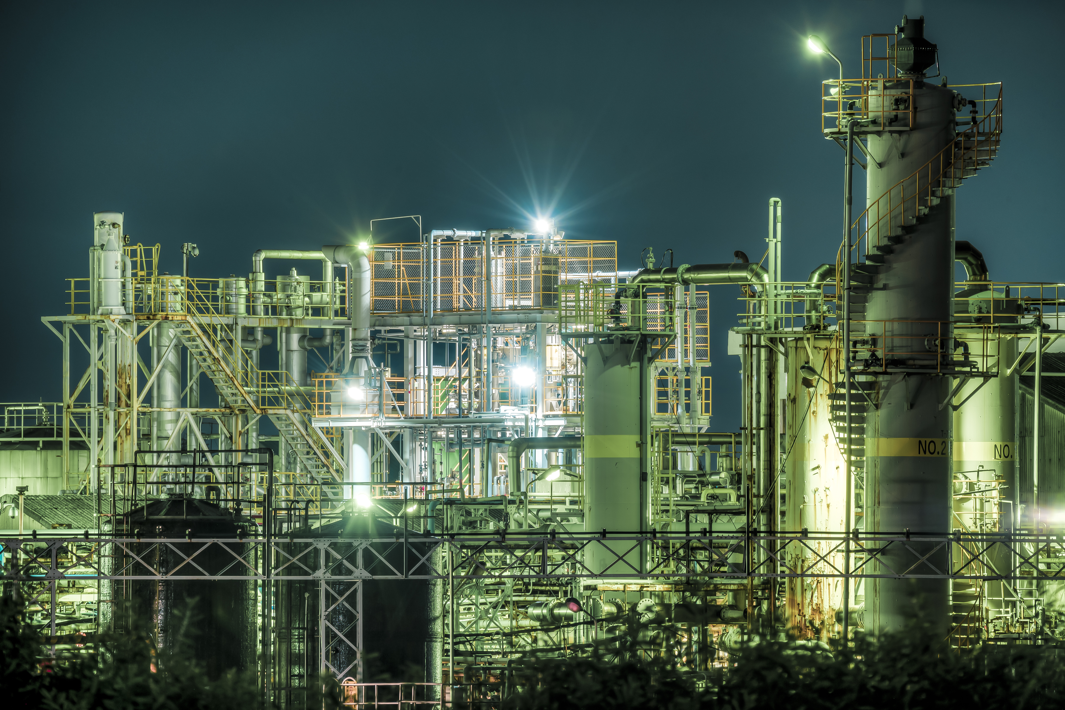 工場夜景 日本曹達高岡工場 #004|システムエンジニアの休日(Photo ...